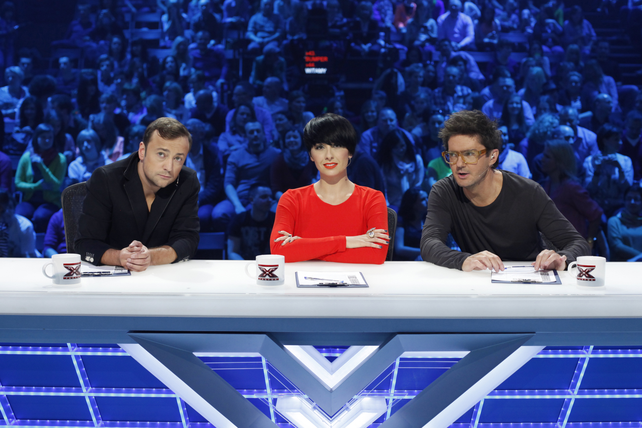 "Jury podczas 1. odcinka LIVE ""X Factor"""